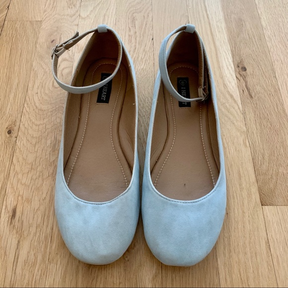 Modcloth Shoes   Powder Blue Flats